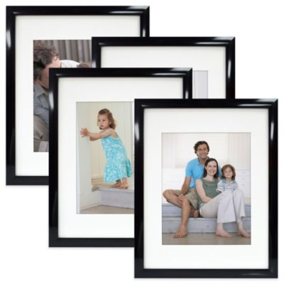 Mix and Match Large Four-Pack Photo Frames in Black
