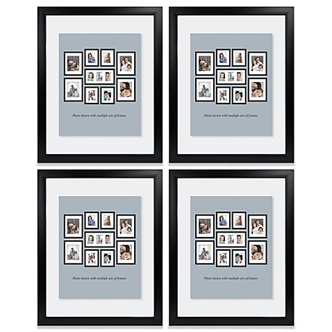 Mix and Match Large Four-Pack Float Photo Frames in Black
