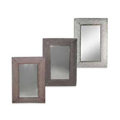 Honeycomb Metal 16-Inch x 24-Inch Wall Mirror in Nickel