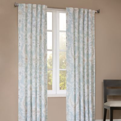 Echo Design™ Positano Print 95-Inch Window Curtain Panel in Lagoon