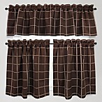 Durham Square 100% Cotton Kitchen Window Curtain Tier Pairs