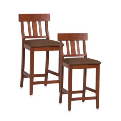 Linon Home 24-Inch Slat Back Counter Stool