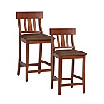 Linon Home Slat-Back Stool