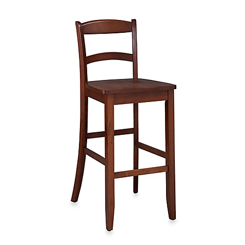 Hillsdale 24-Inch Camel Counter Stool in Dark Cherry