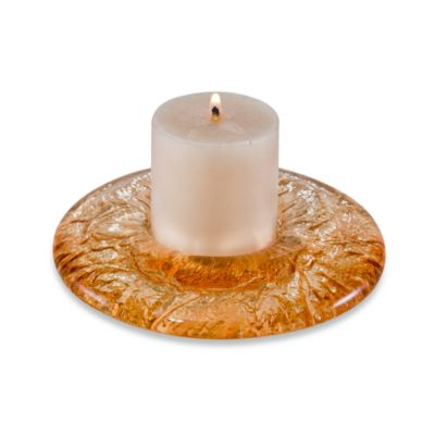 JSG Oceana 3-Inch Pillar Candle Holder in Champagne Gold