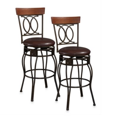 Linon Home Criss Cross Back 24-Inch Counter Stool