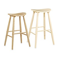 Linon Home Amarillo Stool in Natural