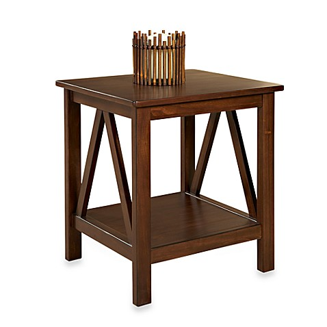 Linon Home Dylan End Table Antique