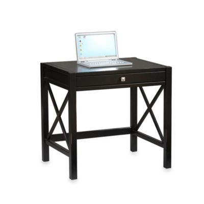 Linon Home Laptop Desk in Antique Black
