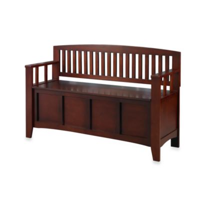 Linon Home Annette Storage Bench