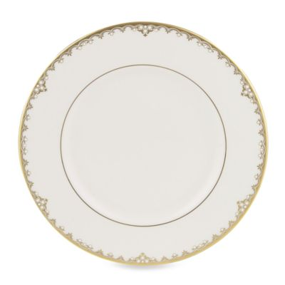 White/Gold Open Stock Plates