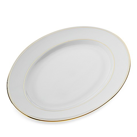 Lenox® Federal Gold 13-Inch Oval Platter in White