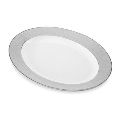 Slate White Platinum Oval Platter