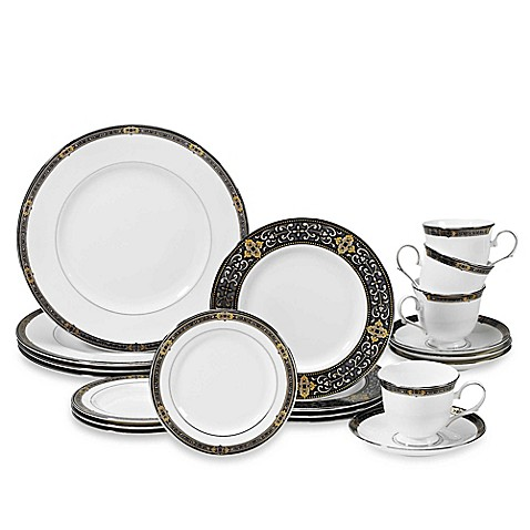 Lenox® Vintage Jewel® 20-Piece Dinnerware Set in White
