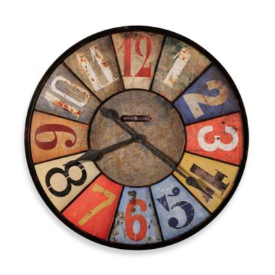 Howard Miller Metal Multi County Line 30.75-Inch Gallery Wall Clock