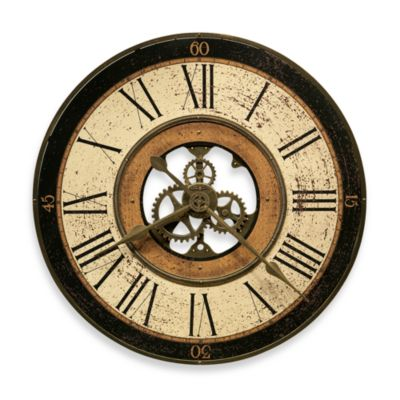 Howard Miller Brass Works 32-Inch Gallery Wall Clock