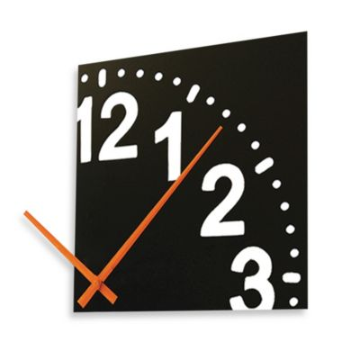 Cupecoy Design Infinity Wooden Clock With Orange Hands