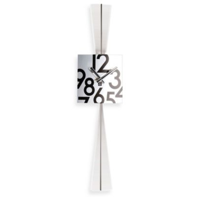 Stainless Steel Square Pendulum Wall Clock