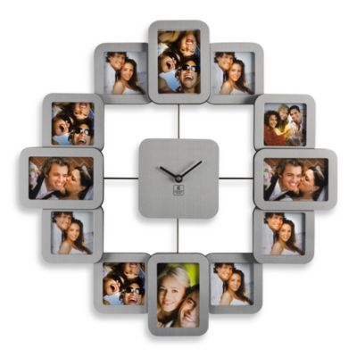 Cupecoy Design 12-Photo Metal Wall Clock