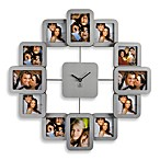 12-Photo Metal Wall Clock