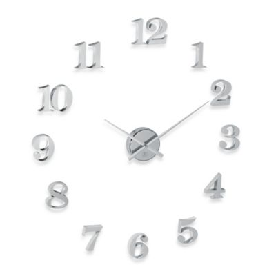 Cupecoy Do It Yourself Large Chrome Finish Wall Clock