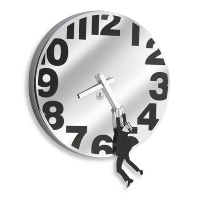 Cupecoy Stainless Steel Hangman Clock