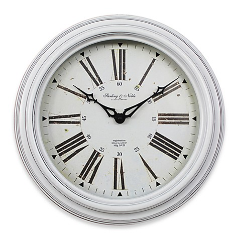 Sterling & Noble 14-Inch Wood Wall Clock