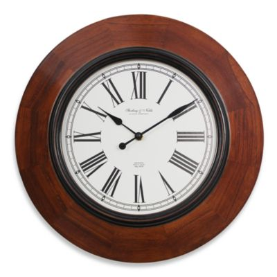 Sterling & Noble 16-Inch Wood Wall Clock