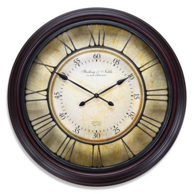 Raised Roman Numeral Grid Wall Clock
