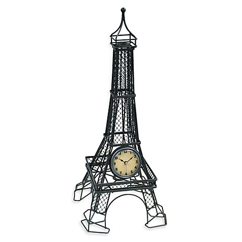 Infinity Instruments Eiffel Tower Metal Table Clock