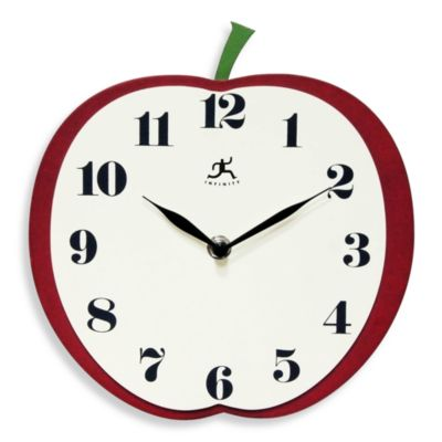 Infinity Instruments Apple Slice Wall Clock