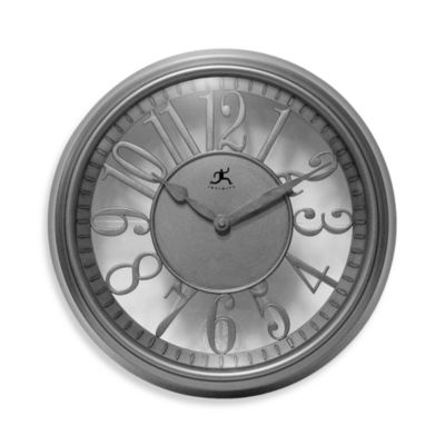 Infinity Instruments Silver Clock
