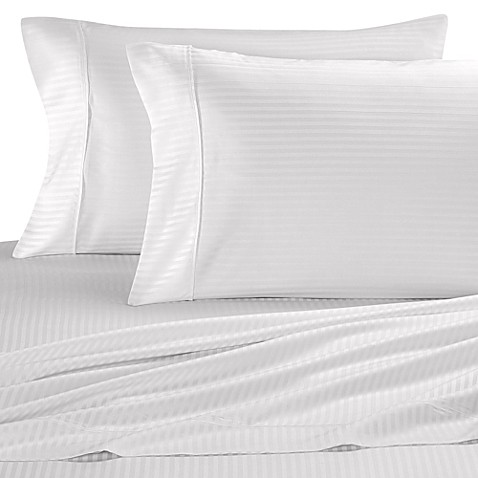 Eucalyptus Origins™ Tencel® Stripe King Sheet Set in White