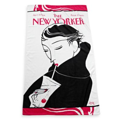 The New Yorker Drinking Girl Beach Towel