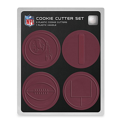 NFL Cookie Cutter Set in Washington Redskins