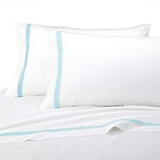 Trina Turk® Blue Peacock Sheet Set in Turquoise