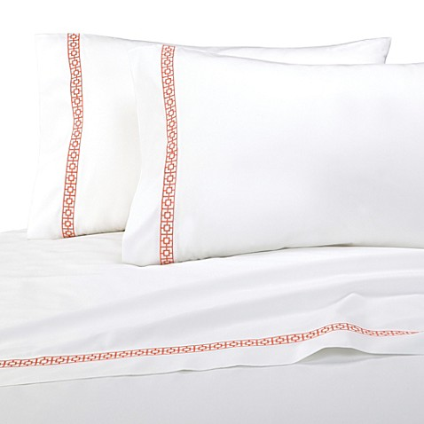 Trina Turk® Trellis 3-Piece Twin Sheet Set in Coral