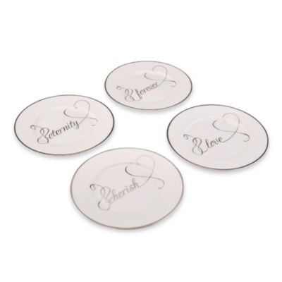 Mikasa® Love Story 9-Inch Accent Plates (Set of 4)