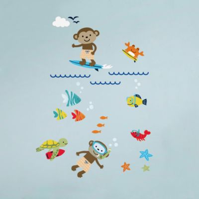 Carter's® Laguna Monkey Wall Decals