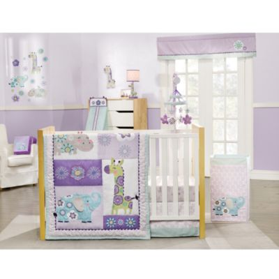 Carter's® Zoo Garden 4-Piece Crib Bedding Set