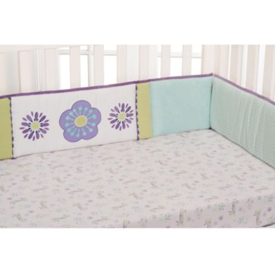 Purple Multi Crib Bumper