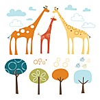 SKIP*HOP® Giraffe Safari Wall Decals