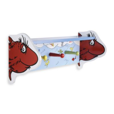 Dr. Seuss™ by Trend Lab® One Fish Two Fish Shelf with Peg Hooks