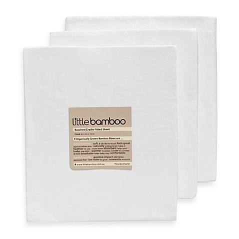 Little Bamboo Fitted Crib Sheet in Natural White