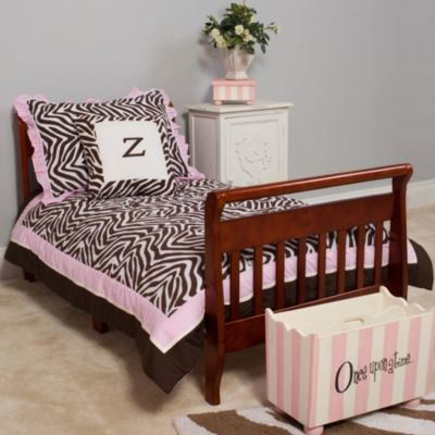 Pam Grace Creations Zara Zebra 4-Piece Toddler Bedding Set