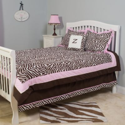Pam Grace Creations Zara Zebra 4-Piece Comforter Set