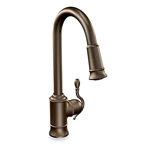 Moen Woodmere 12 Inch Bronze Side Handle Bar Prep Faucet