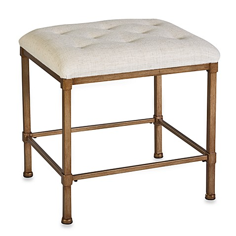 Buy Hillsdale Hampton Kidney Shape Vanity Stool From Bed Bath Beyond