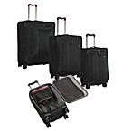 Victorinox&reg; Werks Traveler&trade; Black Expandable Wheeled Luggage Collection<BR>