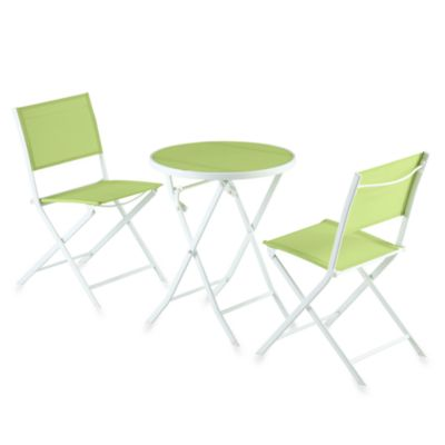 3-Piece Green Sling Bistro Set